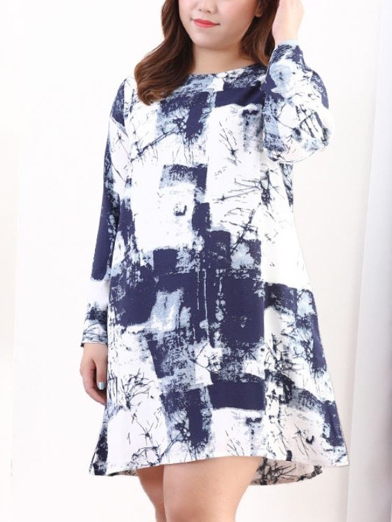 Kyran Abstract Dress (EXTRA BIG SIZE)