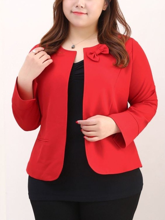 Kynitha Red Bow L/s Jacket (EXTRA BIG SIZE)