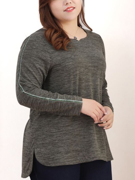 Kyndall Longer Back L/s Top (EXTRA BIG SIZE)