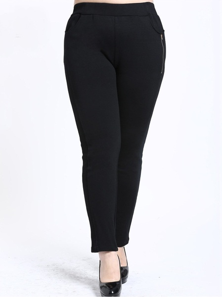 Krystyna Zip Skinny Pants (EXTRA BIG SIZE) (2 COLOURS)