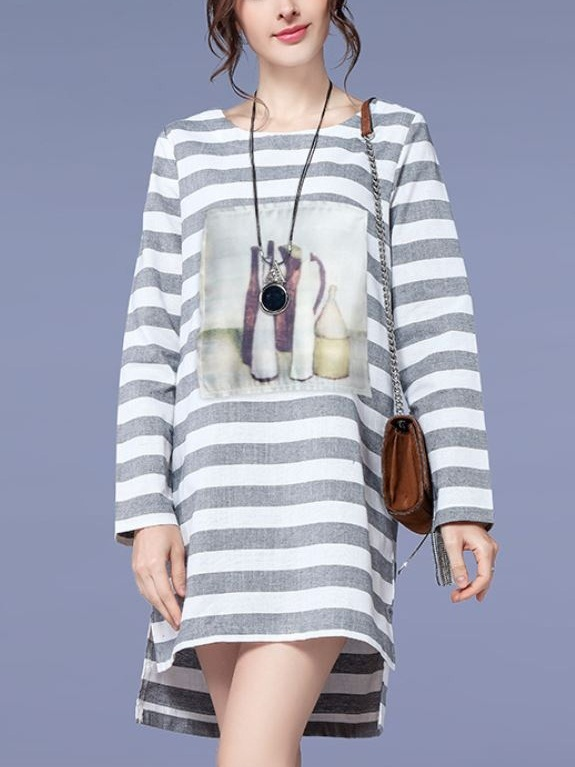 Lana Stripe L/s Art Dress