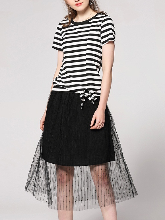 Lainey Tee and Tulle Skirt Set