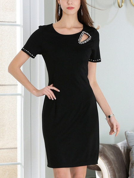 Landrey Diamante Cutout Dress (M-5XL)