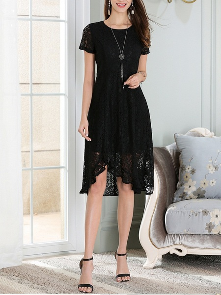 Landry Lace Frill Wrap Dress