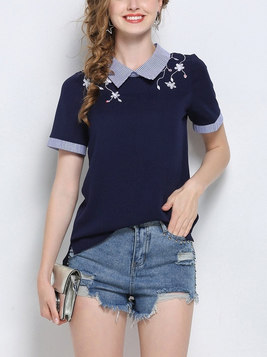 Lantana Embroidered Shirt Top