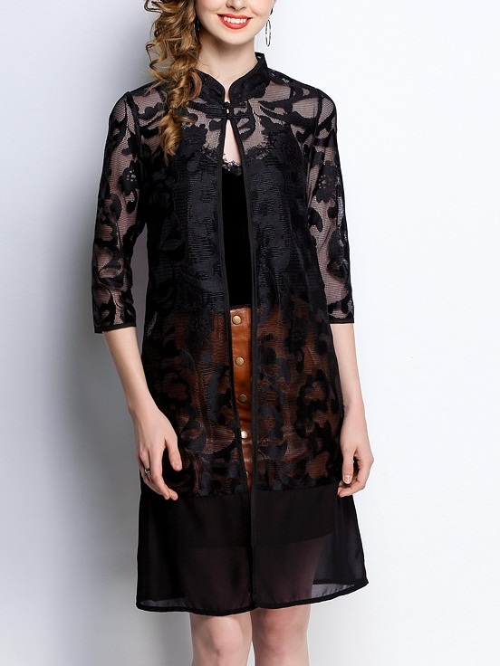 Laraine Qipao Lace Long Jacket