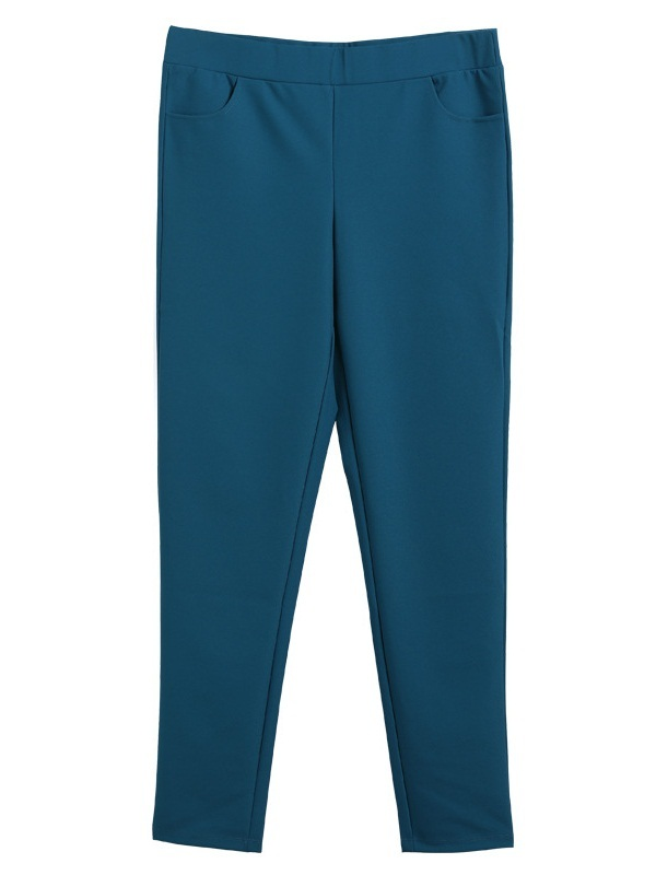 Laura Teal Stretch Skinny Pants (EXTRA BIG SIZE)