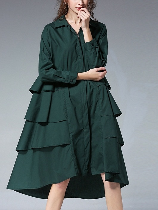 Leighanna Tier Shirt Dress