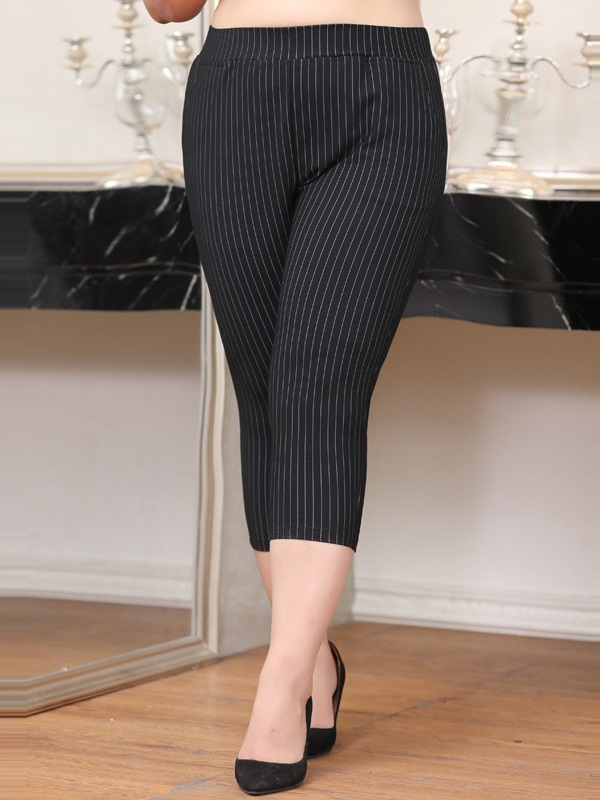 Lindley Stripe Skinny Capri Pants