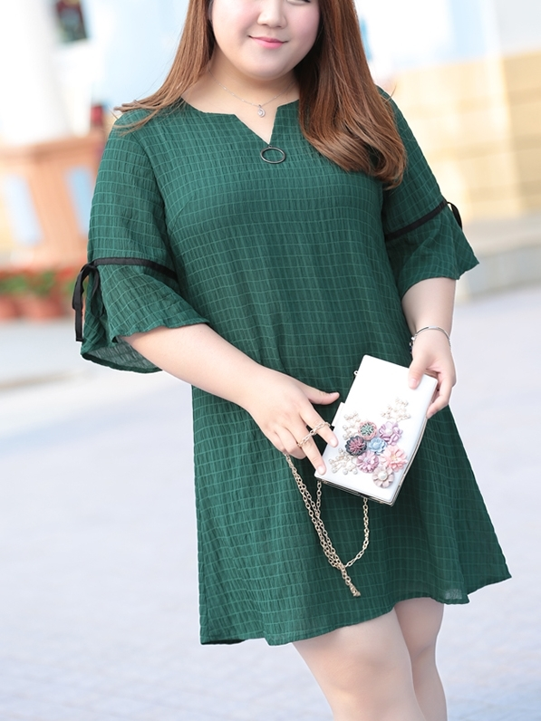 (Ready Stock 4XL *1) Domela Dress (EXTRA BIG SIZE)