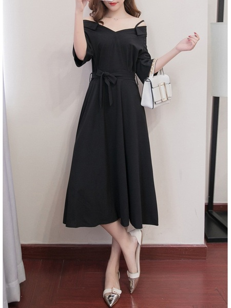 Kellyanne Off Shoulder Midi Dress