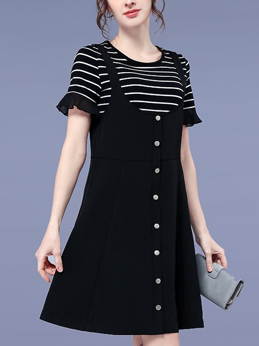 Avalon Stripe Top and Button Dress Set