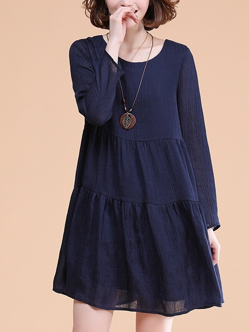 Livy Navy Tier Dress