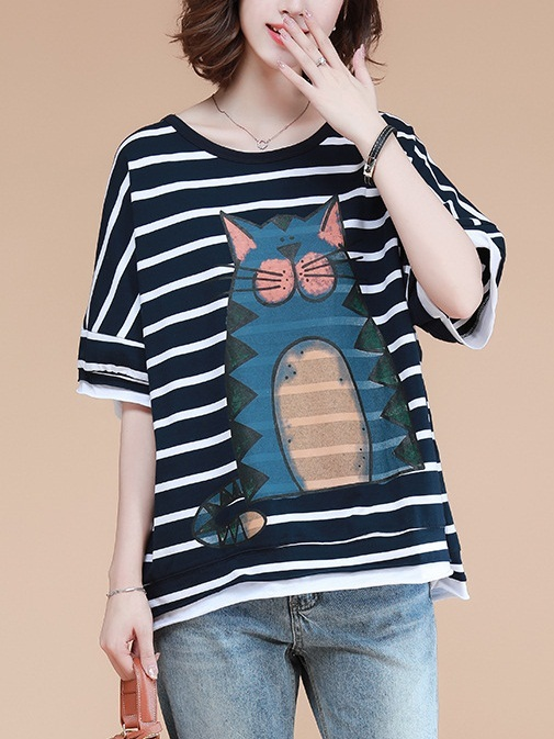 Liviya Cat Stripe Knit Top