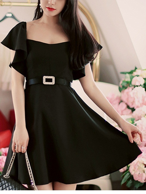 Lorelotte Flutter Sleeve Dress
