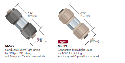 Idex Conductive MicroTight Unions