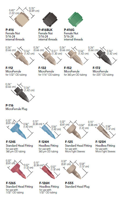 Idex MicroTight Fittings