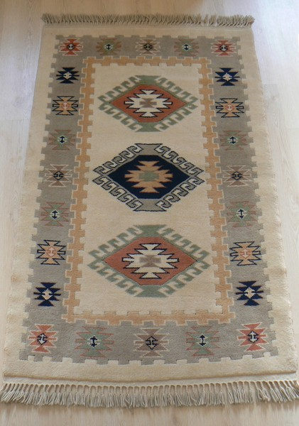 Turkish Handmade Area Rug Rugs Carpets Natural Dyed Vintage Kilims