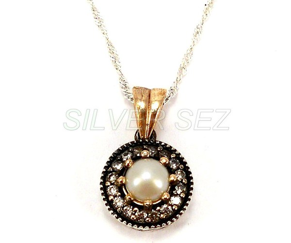 925 sterling silver hurrem sultan pendant necklace pearl color turkish ottoman