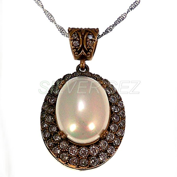 925 sterling silver pendant necklace hurrem sultan drop pearl color