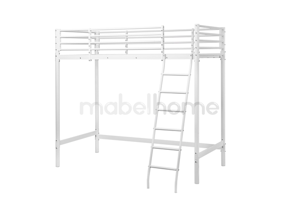 Mabel Home Twin Metal Bunk Bed, White