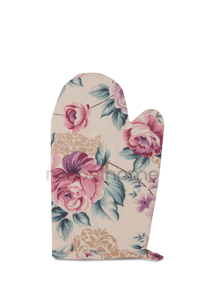 Mabel Home Oven Mitt %100 Cotton, Machine Washable, Heat Resistant, Set of 2