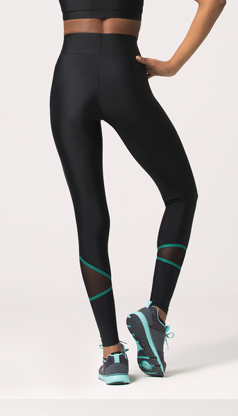 DAISY Black With Green Lines Legging