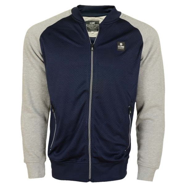 Jack & Jones Navy Grey Sweat Jacket