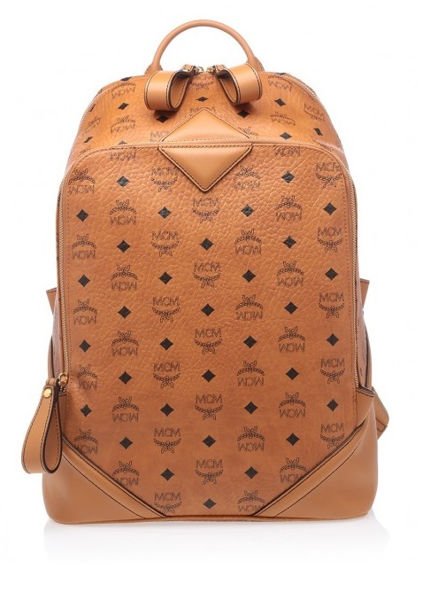 MCM Tan Duke Visetos Backpack Medium