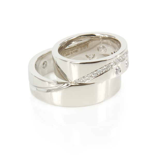 Complete Circle Diamond and Platinum Wedding Rings