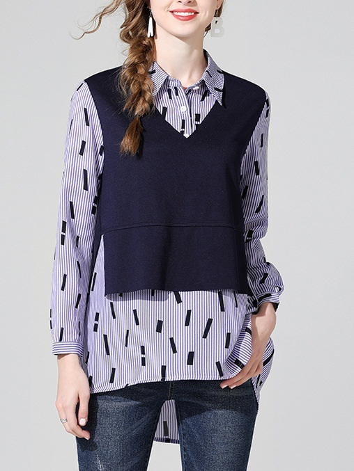 Mercedes Mock 2 Piece Shirt Blouse