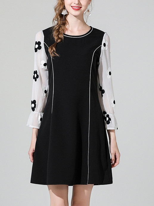 Merced Floral Sleeve Panel Dress
