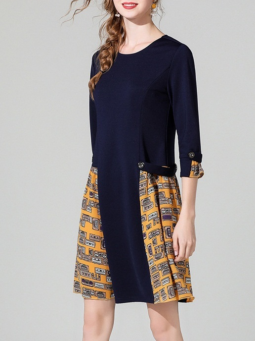 Menali Pattern Dress