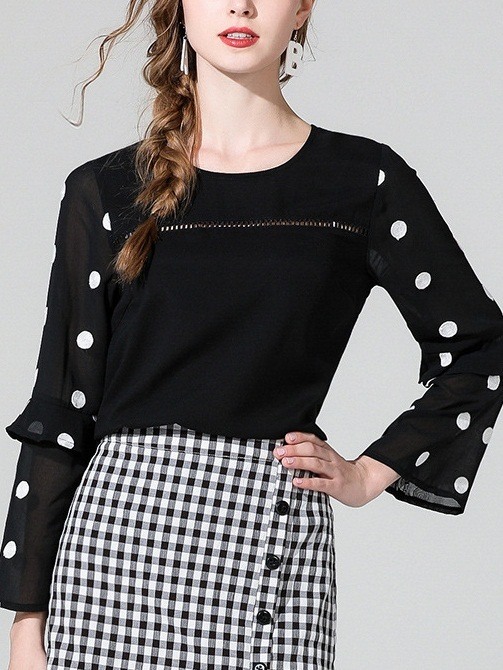 Mena Dots Sleeve Blouse