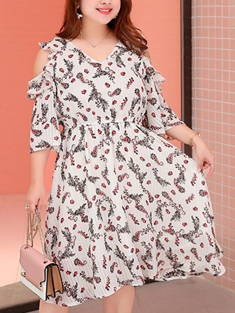 Mielle Off Shoulder Floral Dress