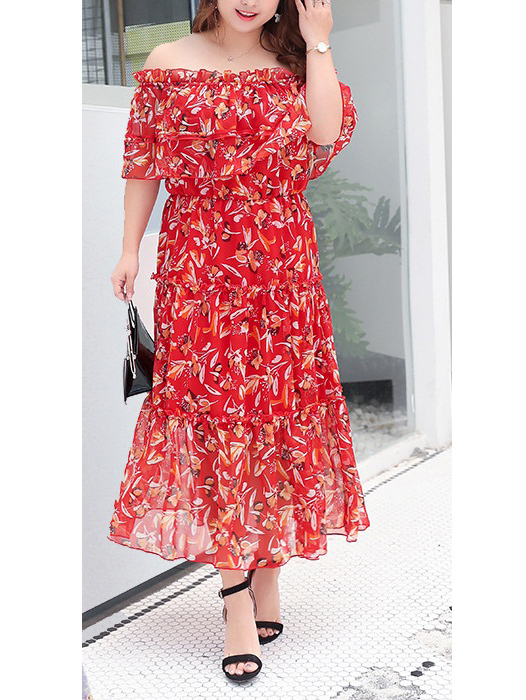 Miette Off Shoulder Maxi Dress