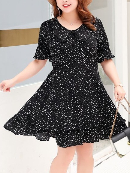 Mignon Polka Dots Shirt Dress