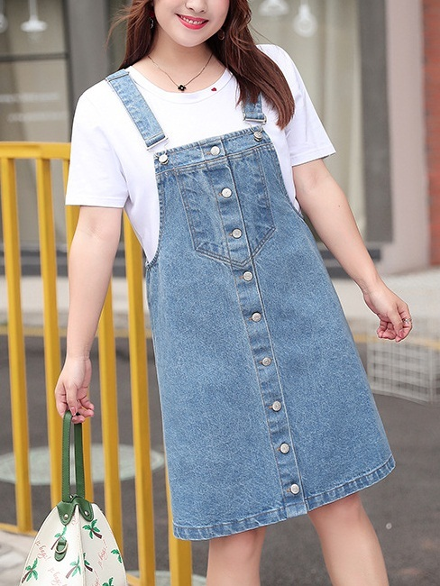 Mihaela Denim Dungaree Dress