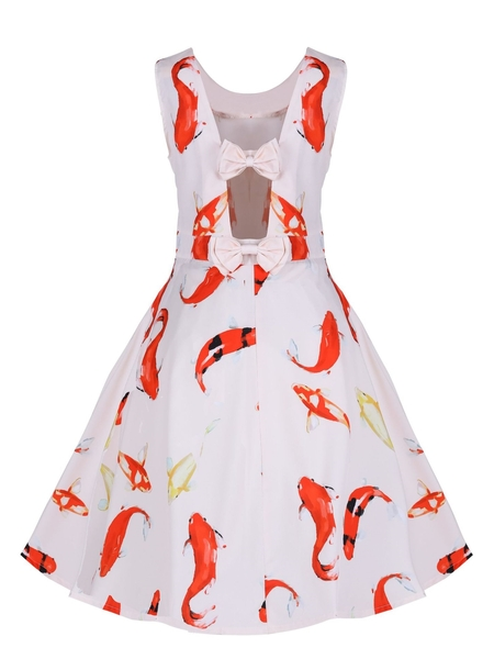 Bow Back Koi Fish Dress
