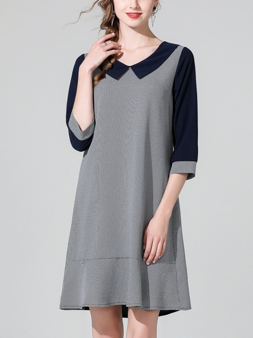 Button Panel Back Dress