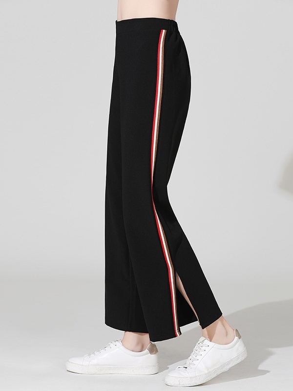 Wide-leg Slit Track Pants