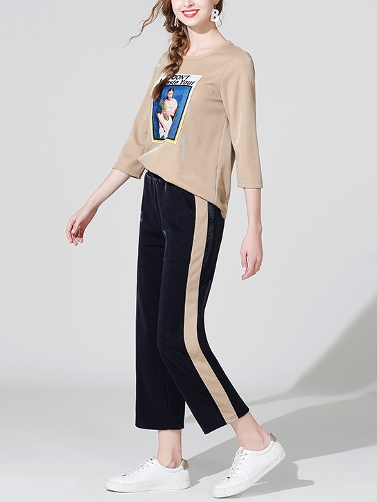 Top and Track Pants Set