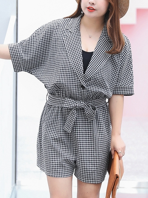 Checks Romper