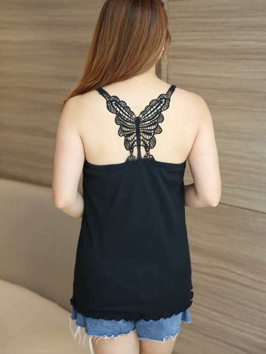 Racerback Butterfly Camisole Top