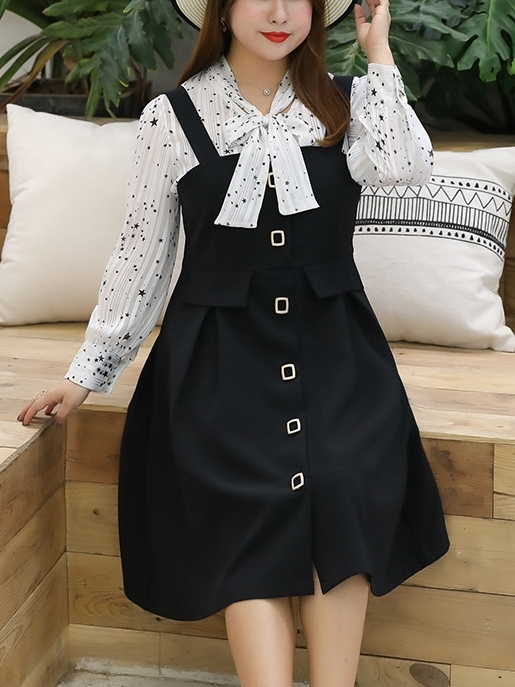 [DEAL] Blouse and Pinafore Dress Set