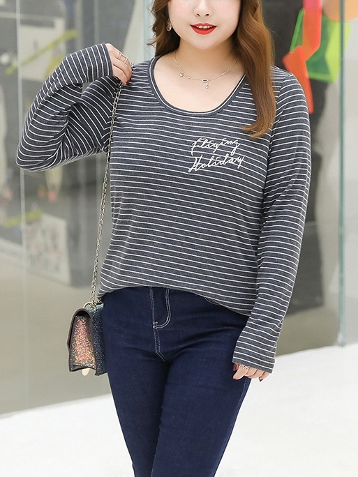 Stripe L/s Top