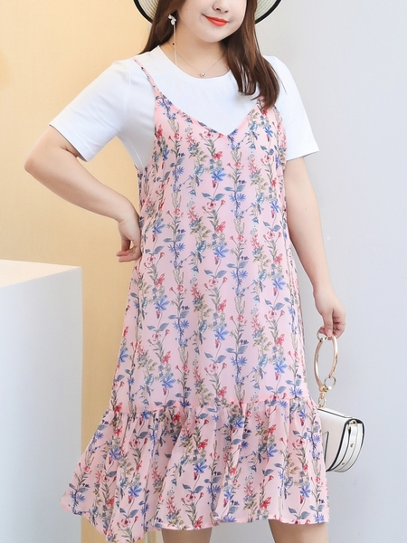 [SET] Tee Dress and Camisole Midi Dress