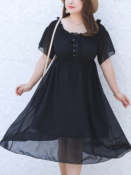 Corset Tie Off Shoulder Dress
