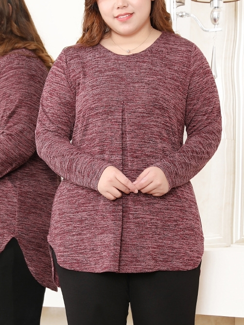 Long Sleeve Knit Top (EXTRA BIG SIZE)