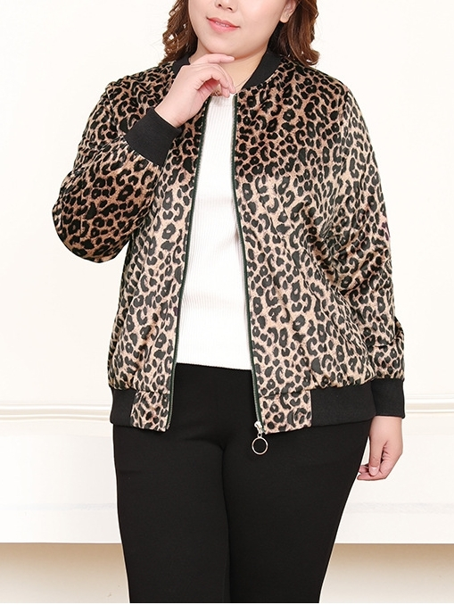 Leopard Baseball Jacket (EXTRA BIG SIZE)